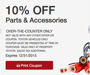 Order Toyota Products This Holiday From Passport Toyota