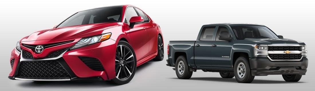 Compare Toyota Vs Chevy Brand Comparison